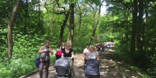 Bumps and Babes exercise in Middleton Woods