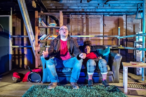 The Shed Crew Jamie Smelt (Chop) and Tanya Vital (Greta&Pinky). Photo credit Anthony Robling