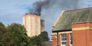 Flat fire on the 20th floor at Cottingley Towers
