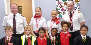 Pupils learn about planes with Jet2 at Hugh Gaitskell