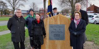 Memorial to WW1 airfield unveiled in Middleton