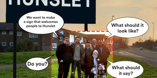 Welcome to Hunslet sign provokes lively debate