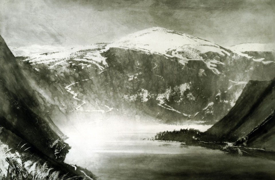 Norman Ackroyd Balmoral Forest, Loch Muick, 2002