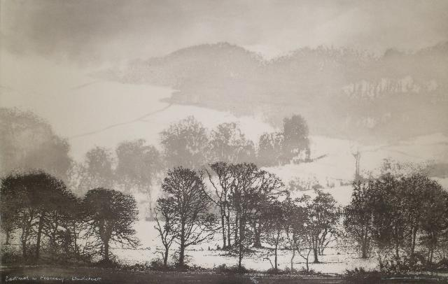 Norman Ackroyd Cartmel in February, Windermere 2012