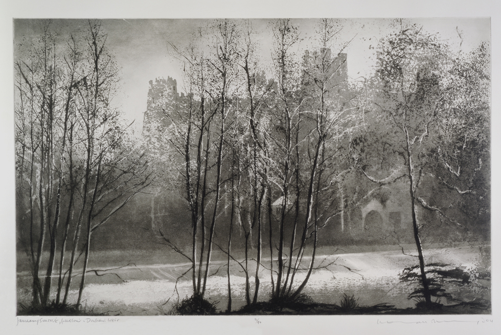 Norman Ackroyd January Sunrise, Ludlow - Dinham Weir, 2004