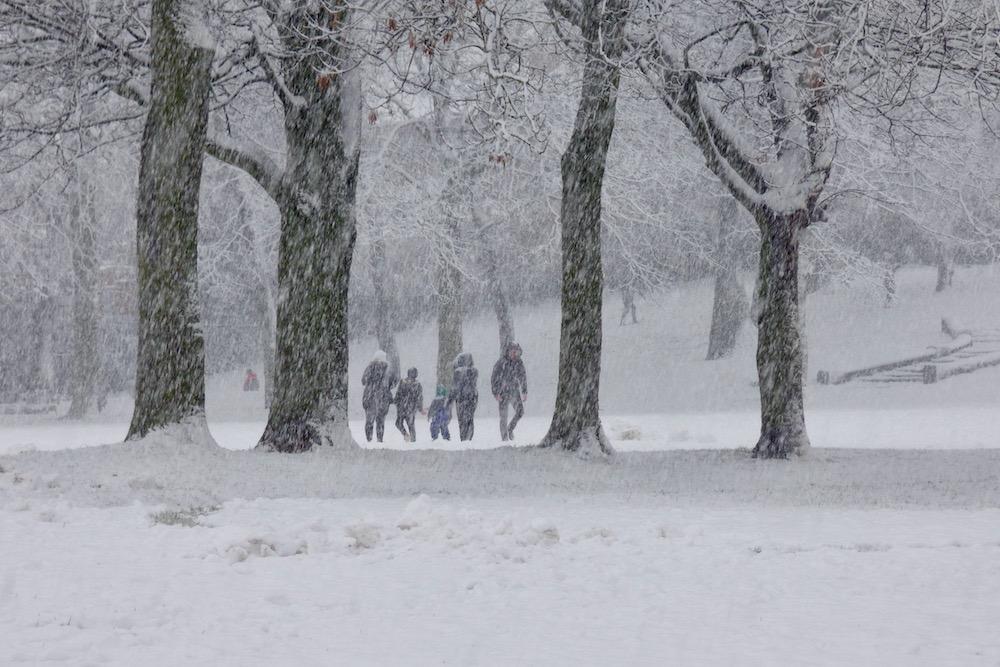 Snow 21 Family in Cross Flatts Park Jeremy Morton