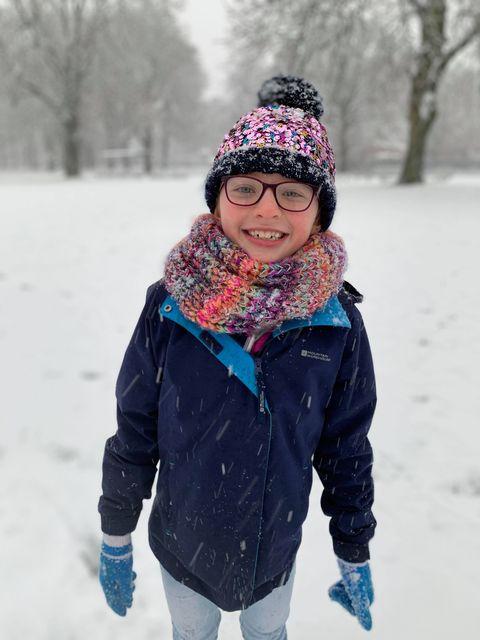 Snow 21 happy child Sharon Mann