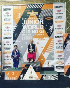 Blossom Crosby gold on podium at BJJ Junior World Championships 2019