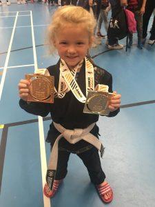 Blossom Crosby gold medals at BJJ Junior World Championships 2019
